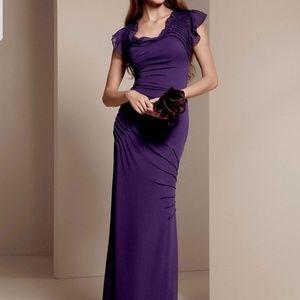 Vera Wang chiffon long bridesmaid prom dress